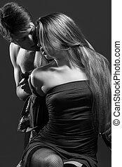 portrait, passionné, couple