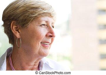 portrait, personne âgée femme