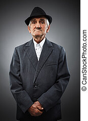 portrait, personne agee, expressif
