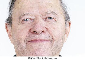 portrait, personne agee, franc, homme