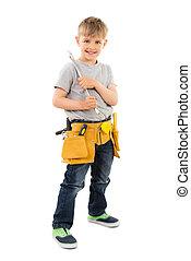 Boy Holding Spanner
