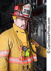 portrait, pompier