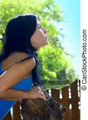 Portrait Pretty girl outdoor