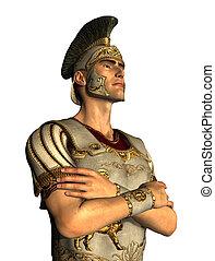 portrait, romain, centurion
