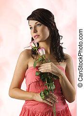 portrait, rose