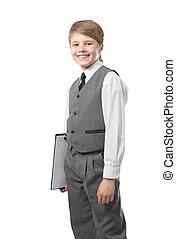portrait schoolboy