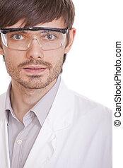 portrait, scientifique, mâle
