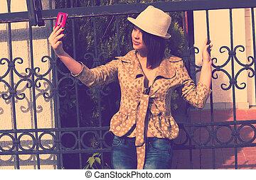 portrait, selfie