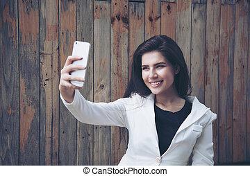 portrait, selfie, girl