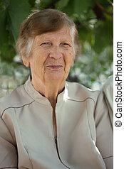 portrait senior woman