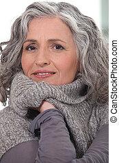 Portrait shot of middle-aged woman