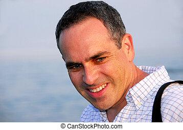 Portrait smile man - Portrait of smiling handsome man