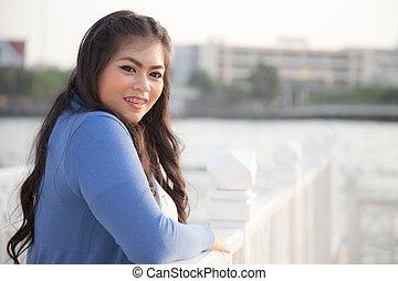 portrait smile woman.