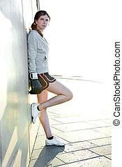 Portrait Sporty Woman