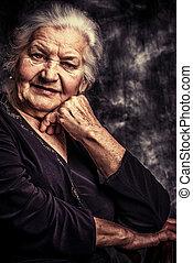 portrait - Portrait of a beautiful smiling senior woman.