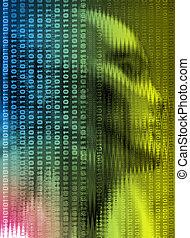 portrait technology - technology background illustration...