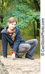 Portrait teen girl outdoor