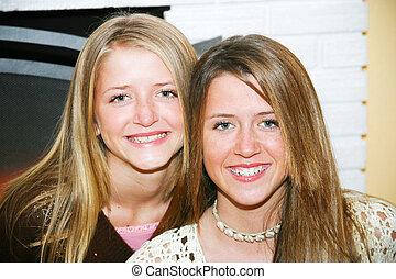 Portrait - Teenage Sisters