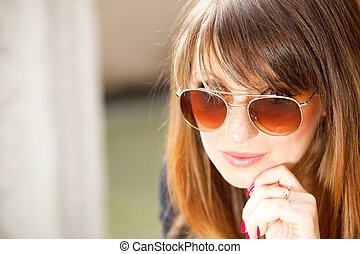 More stock photos of this modelSee All. Portrait thoughtful woman on street