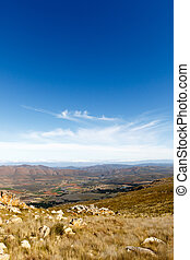 Portrait view - Clouds over the Swartberg valley in South Africa
