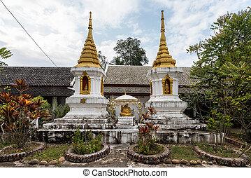 view of wat Phaphay in Luang Prabang, Laos.