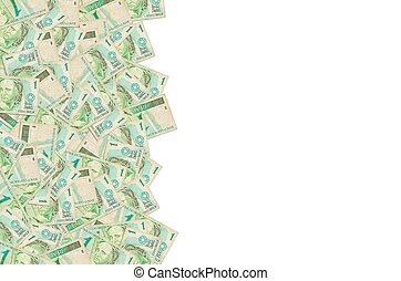 portrait, vrai, brésilien, argent, effigie, depicted, républiques, vieux, une, buste, note