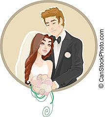 portrait-wedding, pareja-, invitación