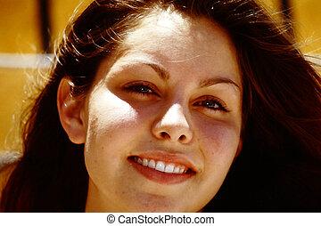 portrait., weibliche schönheit