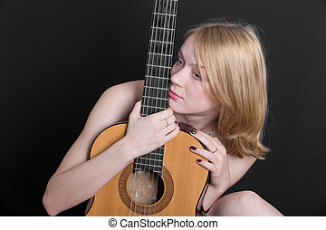 portrait with guitar