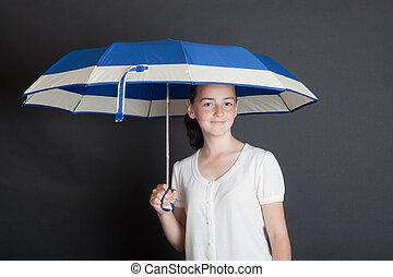 portrait with umbrella