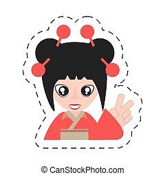 portrait woman asian clothes