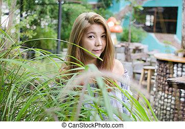 portrait woman outdoor asian