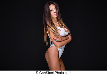 portrait, woman., sexy