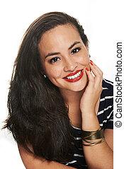 portrait woman with freckles