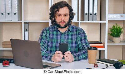 portrait worker in startup company