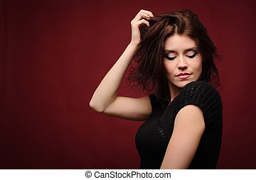 Portrait young beautiful woman