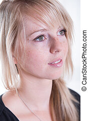 Portrait young, blonde, attractive woman