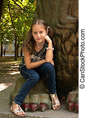 portrait young girl