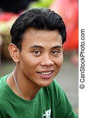 Portrait young men in Kuta. Bali. Indonesia