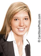 portrait young woman