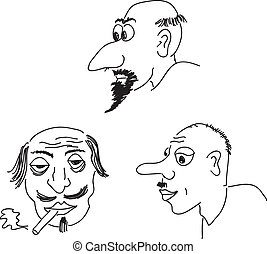 Portraits,  caricature