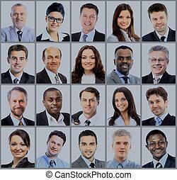 portraits, collection, professionnels
