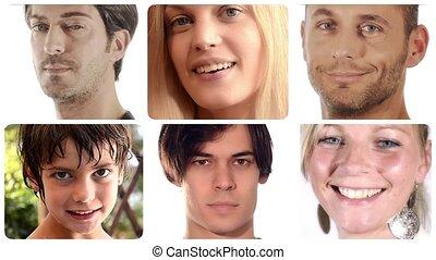 portraits, divers, gens