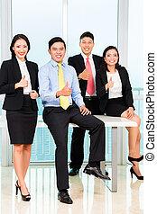 portret, businesspeople, biuro