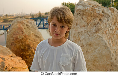 portret, chłopiec