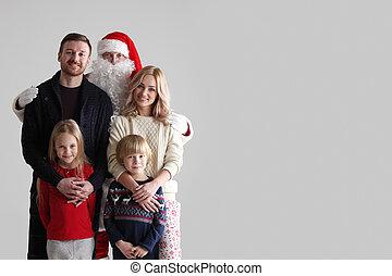 portret, claus, rodzina, święty