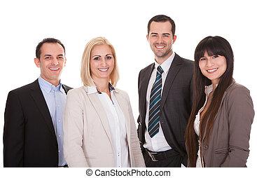 portret, grupa, businesspeople