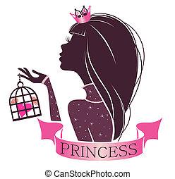 portret, klatka, księżna