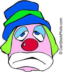 portret, klown