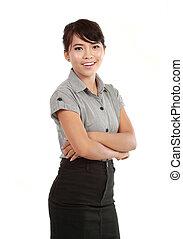 portret, kobieta, asian handlowy